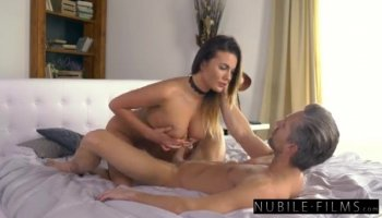 Tina Kay gets her ass and mouth fucked by two guys