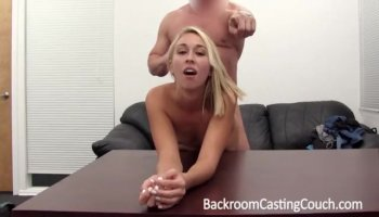 Camille Amore penetrated rough from the back in doggy style pose by a white cock