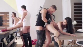 Skinny blonde Kristy May does her first porn scene