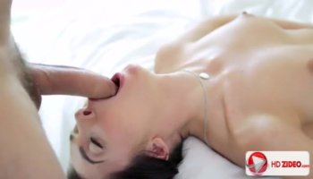 Riding on a huge knob fills gal with enjoyment