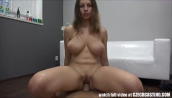 Soccer babe Cali jerks him off on her panties